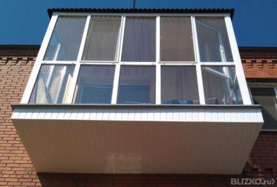 Остекление балкона 5 метров в 1 стекло 2 раб.створки от комп.