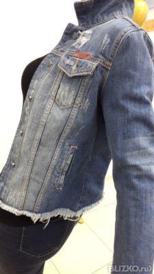 Куртка женская джинсоваяLOVEZARA Sky blue green rodeo®вываренный апликация.