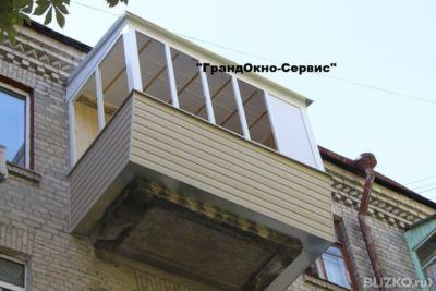 Остекление балконов под ключ в омске - на портале blizko.