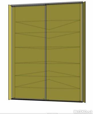 Угловой шкаф с дверями без боковых панелей изготовление на з.