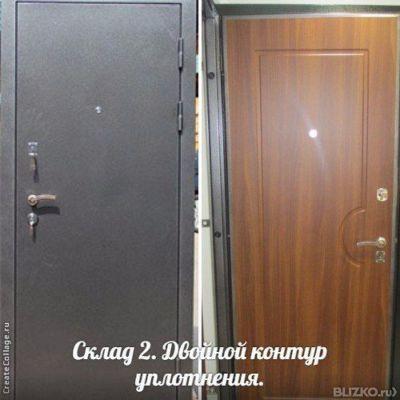 металлическая дверь 2 в одной