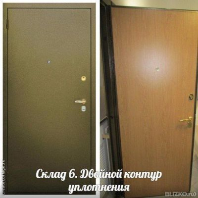 металлические двери складская 6