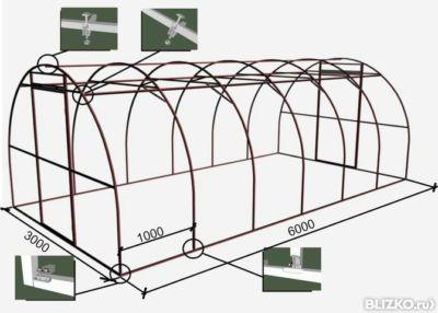 Купольная теплица из поликарбоната чертежи