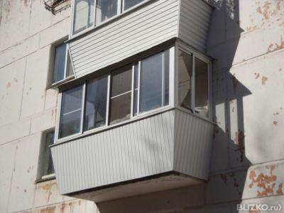 Алюминиевое остекление балкона п-образный с выносом в екатер.