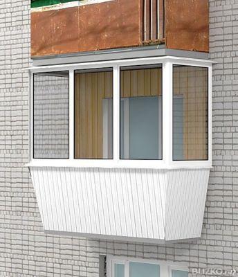 Мир дверей и окон :: алюминиевое остекление балкона п-образн.