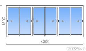 Алюминиевое остекление лоджии 6000 м в екатеринбурге - на по.