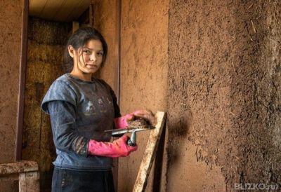 все основные как мазатьземляной глиной стены можно стирать регулярно