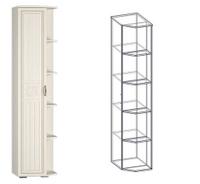 """Шкаф-стеллаж левый (540) """"Виктория"""" (Орех/Орех)"""